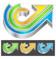 color arrow vector image vector image