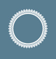 decorative ornamental ring vector image vector image