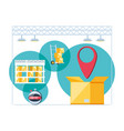 delivery service infographic icons vector image vector image