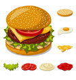 design of burger and sandwich sign vector image
