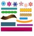 design ribbon banner and flower elements vector image vector image