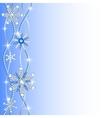 diamond hanging snowflakes vector image vector image
