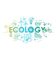 ecology lifestyle green energy recycle icons vector image vector image