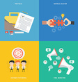 Element of portfolio solution viral marketing and vector image vector image