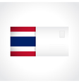 Envelope with Thai flag card vector image vector image