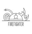firefighter professional helmet water hose and vector image