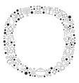 frame with hanukkah holiday flat design black vector image vector image