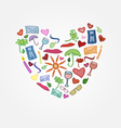funny love postcard Heart for girlfriend or vector image