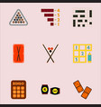 games icons set table games collection vector image vector image