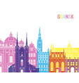 gdansk skyline pop vector image vector image