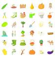 good farm icons set cartoon style vector image vector image