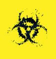 grunge biohazard sign vector image vector image