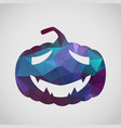 halloween card with sad pumpkin of triangle vector image vector image