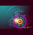 happy diwali colorful burning lamp mandala vector image vector image