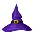 happy halloween witch hat vector image vector image