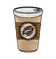 hot cup of coffe icon vector image