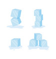 ice cubes cold transparent frozen block stock vector image vector image