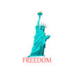 icon a statue liberty vector image vector image