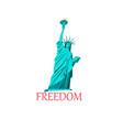 icon a statue liberty vector image vector image