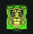 iron lion zion vector image vector image