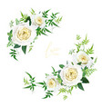 light yellow and greenery floral editable bouquet vector image vector image