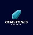 logo gemstones gradient colorful style vector image vector image