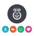 Marry me ring sign icon Engagement symbol vector image vector image