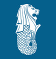 merlion statue on blue vector image vector image