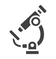 microscope solid icon education and science vector image