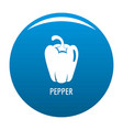 pepper icon blue vector image vector image