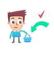 Planned consumer basket vector image vector image