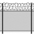 Prison privacy metal fence with barbed wire