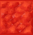 red color 3d polygon background modern origami vector image