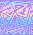 retro futuristic geometric pattern vector image