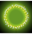 Round frame with garlands and lights vector image