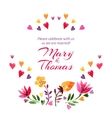 save date love card with watercolor flowers vector image vector image