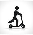 scooter icon symbol design vector image