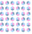 seamless cube pattern gradient pop art vector image vector image
