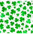 seamless pattern with green watercolor clover vector image vector image