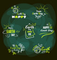 set badges earth day vector image vector image