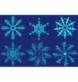 Set of fantastic snowflakes vector image vector image