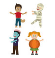 set of halloween kids vector image