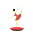 stylized ballerina in a red pack vector image vector image