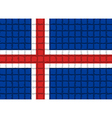 The mosaic flag of Iceland vector image vector image