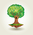 Tree low poly abstract stylized vector image vector image