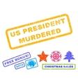 Us President Murdered Rubber Stamp