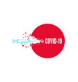 vaccination against covid-19 vector image vector image