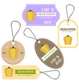 vegetable tag and farm market veggies price labels vector image vector image