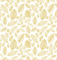 White and gold seamless pattern with leaves Styles vector image vector image
