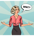 Woman Asking What Businesswoman Pop Art vector image vector image